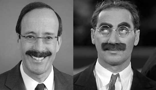 (left) NY Rep Engel, (right) Groucho Marx
